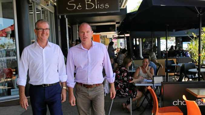State Labor Leader Micheal Daley and State Labor candidate for Tweed Craig Elliot.