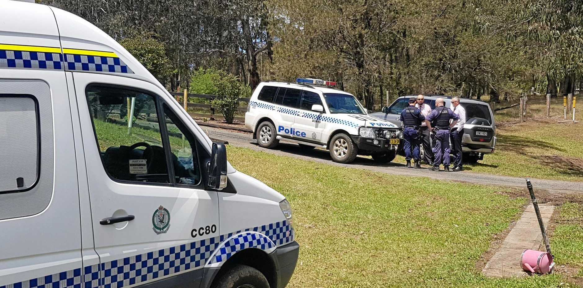 The crime scene at Dundurrabin where Darren Boardman was found suffering a gunshot woundto the torso.