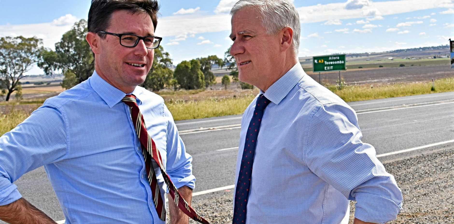 COMING TO THE TABLE: Member for Maranoa David Littleproud (left) and Deputy Prime Minister Michael McCormack.