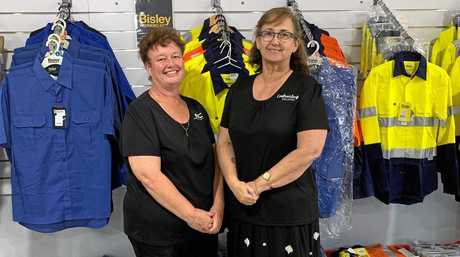 Embroidery Collective owners Gaylene Everett and Sharon Easdale.