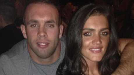 Leah pictured with her fiancé Scott Franks. Picture: Facebook