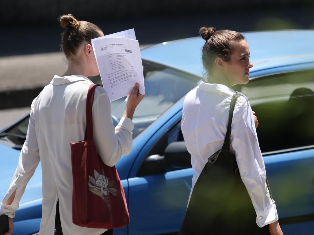 Sister act. Lili and Meg Christensen leave Gosford Local Court after recording a conviction. Picture: AAP Image/Craig Wilson