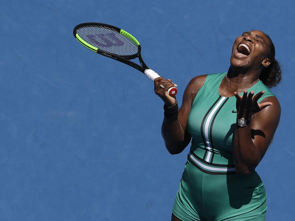 Williams was left frustrated during Pliskova's revival. Picture: AP