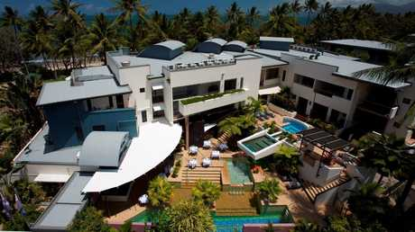 Aerial view of Peninsula Boutique Hotel.