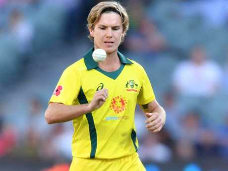 Adam Zampa has emerged as the Aussies' No.1 white ball wrist spinner. Picture: AAP