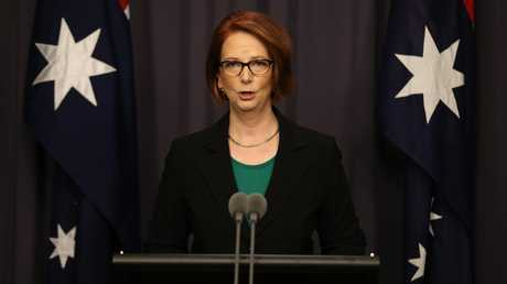 Australia's first female PM Julia Gillard was the subject of the worst kinds of misogyny. Picture: Gary Ramage