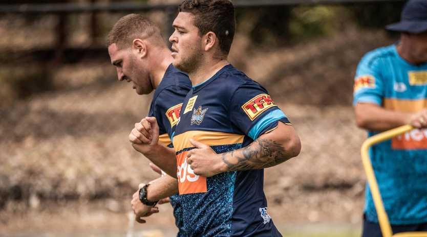 Ash Taylor at Gold Coast Titans training. Picture: GOLD COAST TITANS