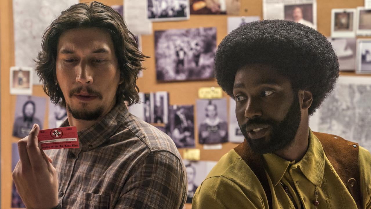 Adam Driver and John David Washington in BlacKkKlansman. Picture: David Lee/Focus Features via AP