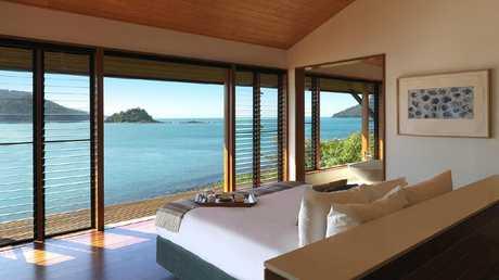Guests at Qualia wake up to waterfront views.