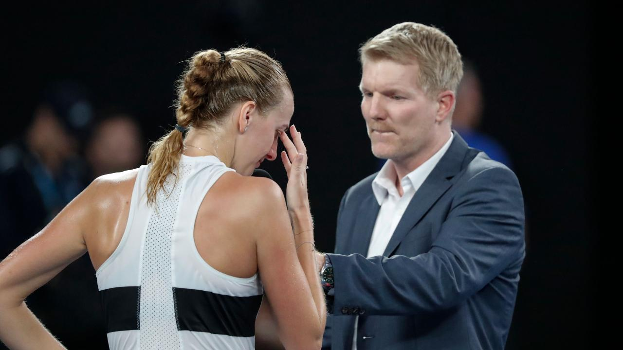 Petra Kvitova breaks down after refelecting on her return to the top level.