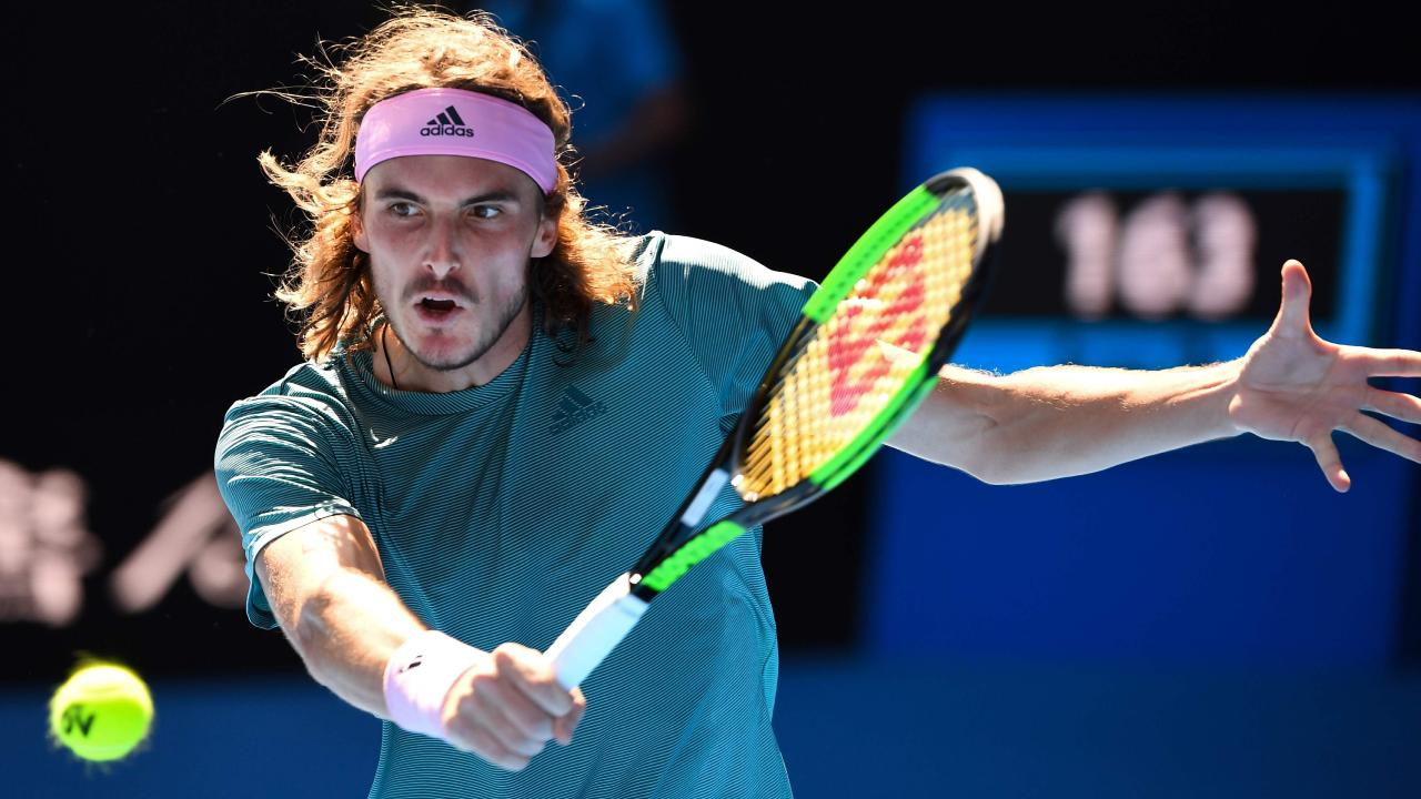 Giant-killer Stefanos Tsitsipas is ready to take down another tennis legend. Picture: AFP