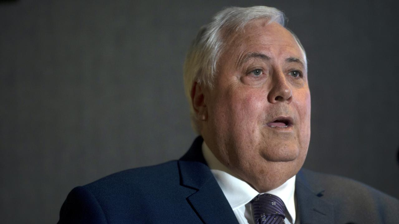 Clive Palmer is facing a charge of aiding, abetting, counselling or procuring the commission of an offence by another person in connection to allegations by the Australian Securities and Investments Commission. Picture: AAP/Jeremy Piper