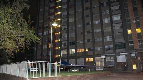 Police were called to a unit block on Morehead St in Redfern. Picture: Dean Asher/TNV