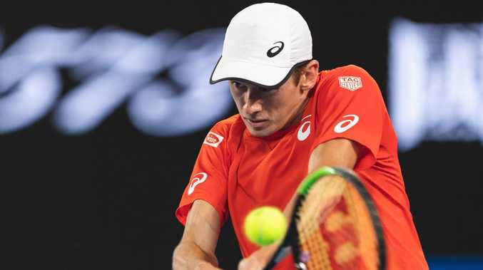 Alex De Minaur is expected to anchor the Australian Davis Cup team in Adelaide. Picture: Jonathan DiMaggio/Getty Images