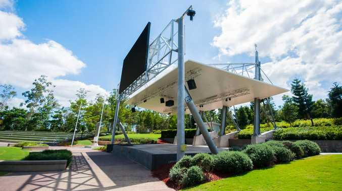 The big screen TV at Springfield's Robelle Domain Parklands.