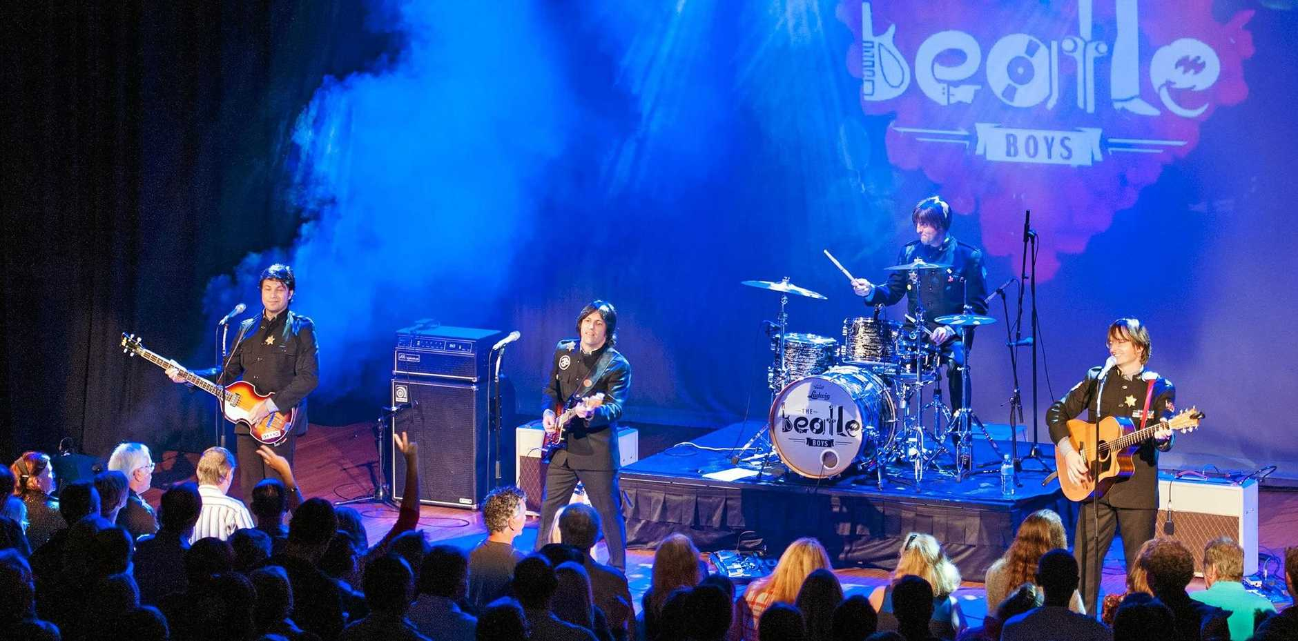 50 YEARS ON: Rock along to one sensational two-hour concert experience presented by the world's Premier 'Beatles' band, the sensational Beatle Boys on Saturday, February 23 at the Qpac Concert Hall, Brisbane.