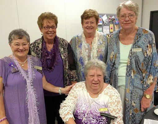 Logan VIEW Club ladies receiving their 10 year badges at our birthday lunch.