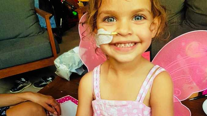 LITTLE WARRIOR: Summer, 3, has been diagnosed with cancer. A GoFundMe page has reached half its goal in little more than a week.