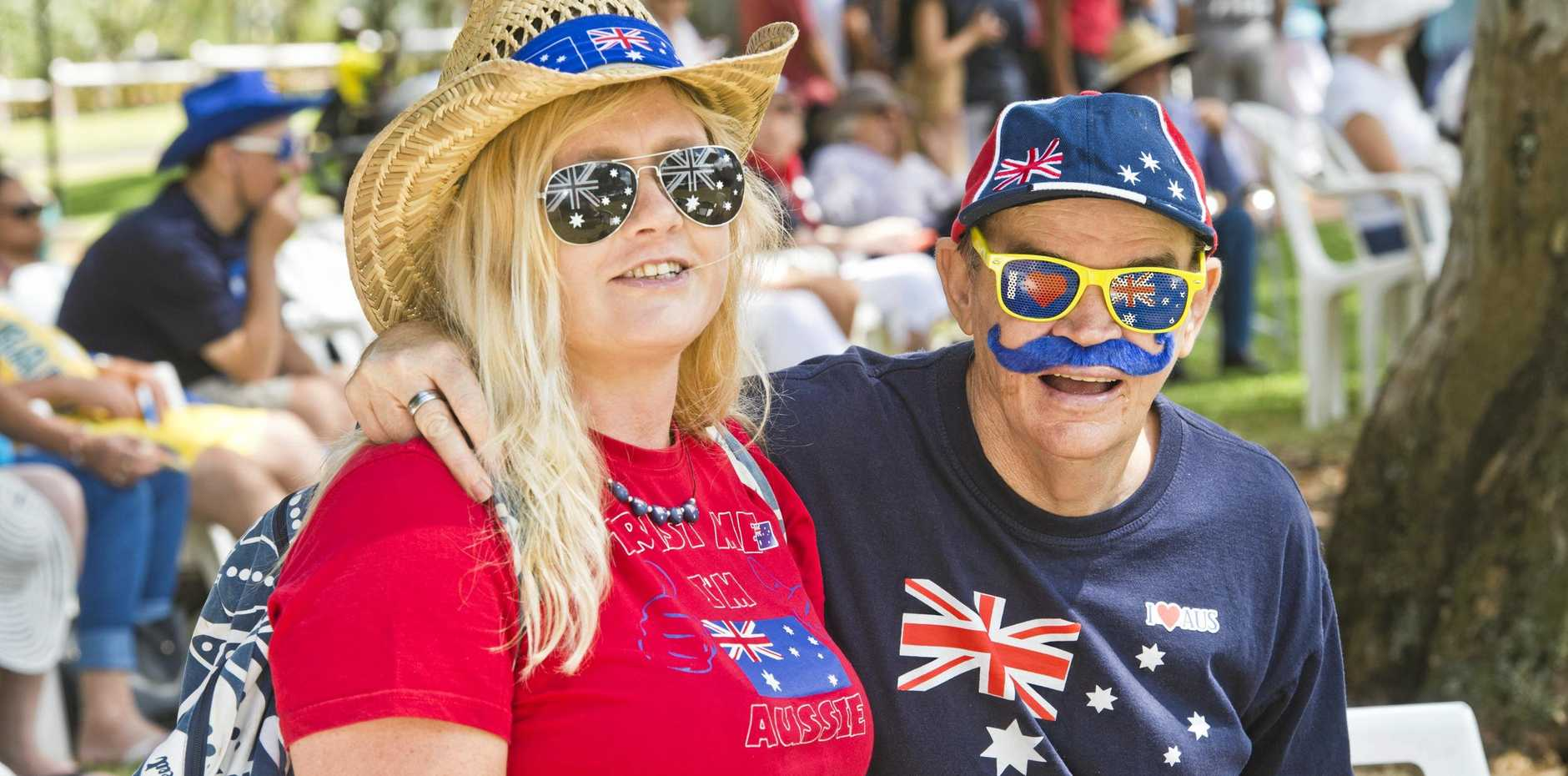 Kathrine Marsh and Gordon Seymour at Australia day celebrations at Picnic Point in 2018.