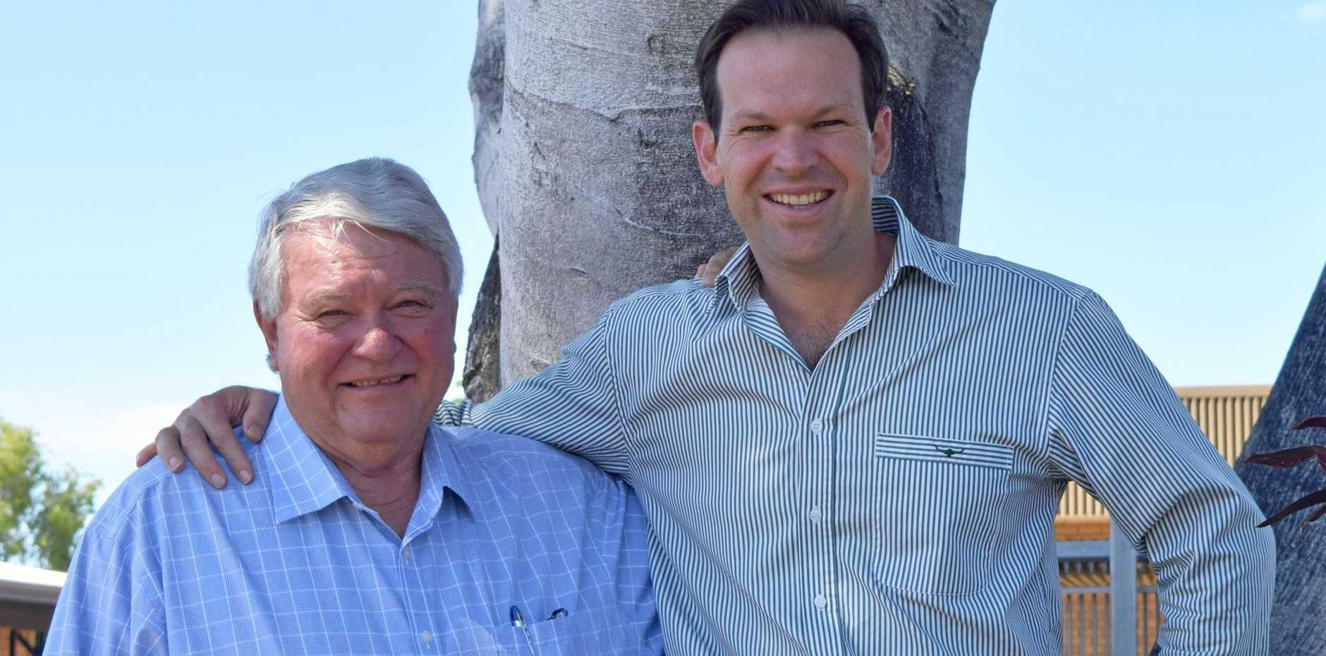 UNITED FRONT: Federal Member for Flynn Ken O'Dowd and Senator Matt Canavan were in Emerald this week to meet with community stakeholders.