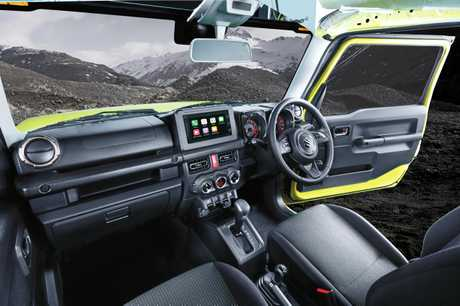 The dash of the new 2019 model Suzuki Jimny.