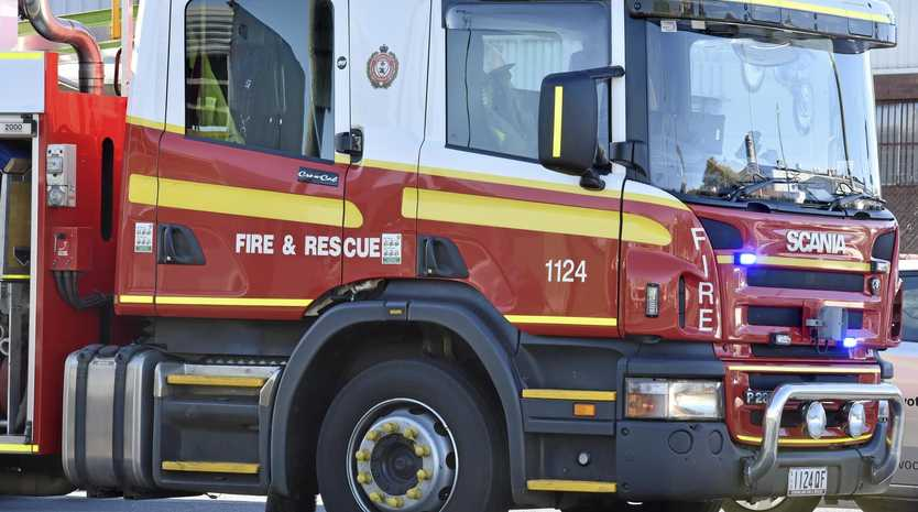 BUSHFIRE: QFES crews are on the scene of a grassfire near Mothar Mountain.