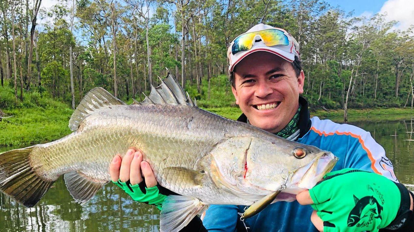 Daniel Brown caught and released this 66cm barramundi from Teemburra Dam.