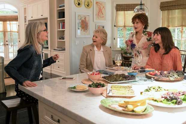 Diane Keaton, Candice Bergen, Jane Fonda and Mary Steenburgen in a scene from the movie Book Club. Supplied by Transmission Films.