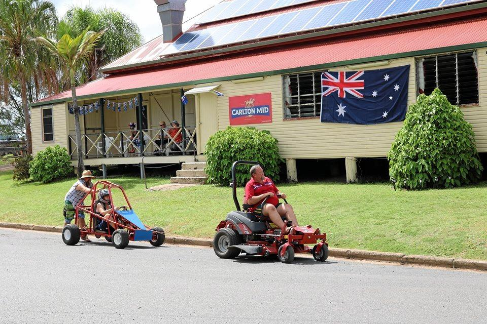 AUSSIE, AUSSIE, AUSSIE: Billy cart racing at the Rosedale Hotel and Caravan Park to celebrate Australia Day.