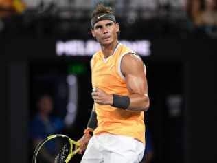Rafael Nadal is through to the Australian Open final.