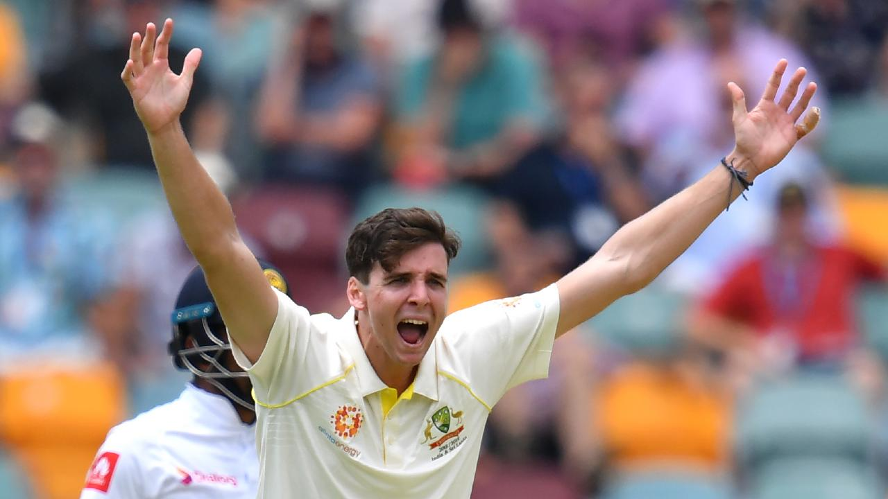 Jhye Richardson was a revelation for Australia in the first innings at the Gabba. Picture: AAP
