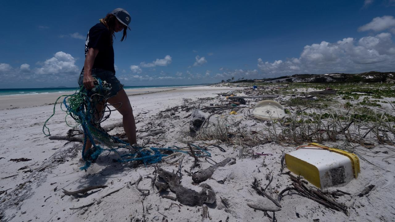Even on remote islands, the team found plastic. Source: Michaela Skovranova for Corona/Parley/National Geographic