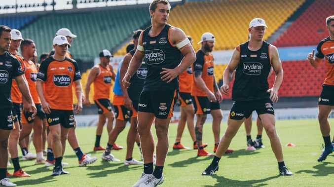 Wests Tigers hooker Jacob Liddle is eyeing a big season. Picture: Wests Tigers.