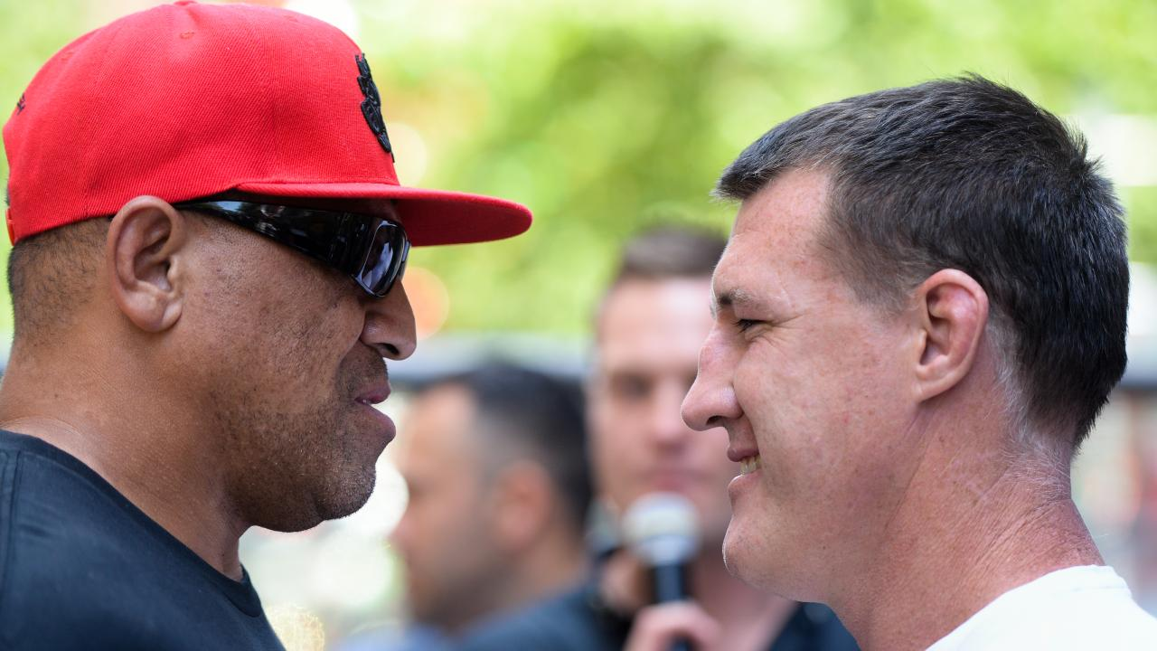 John Hopoate will face Paul Gallen in the ring on February 8. (AAP Image/Paul Braven)