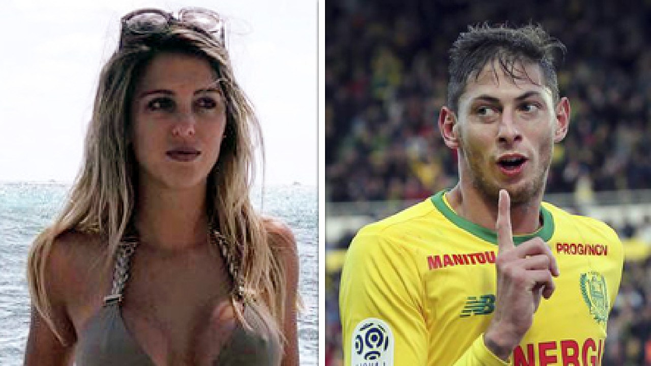 Berenice Schkair and her former beau Emiliano Sala.