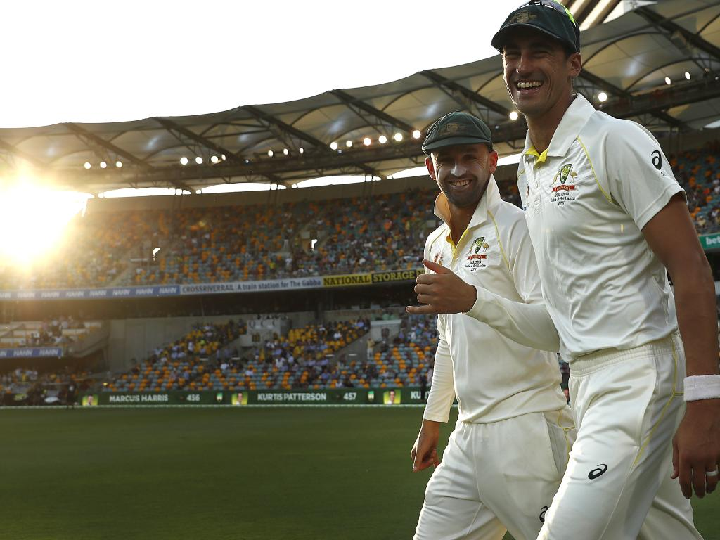 The Aussie bowlers had a ball on the opening day.