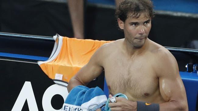 Rafael Nadal shows off his impressive physique.