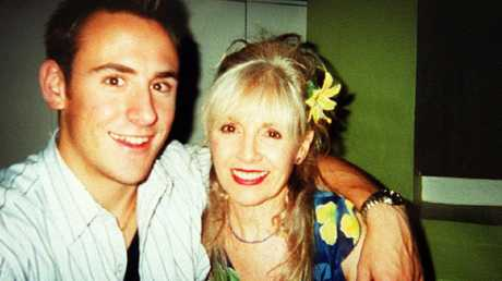 Billy Hardy with his mum Christine before his death in 2002.