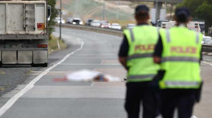 Lanes re-opened after man dies on Qld motorway