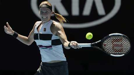 Petra Kvitova's power was too much for American Danielle Collins. Picture: AAP