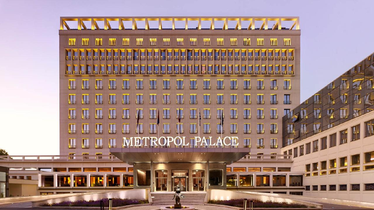 The Metropol Palace Hotel in Belgrade, Serbia, where three Australians were arrested over alleged cocaine syndicate.