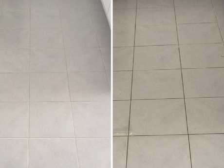 The incredible hack also works wonders on dirty tiles, in the bathroom and kitchen. Picture: Mums Who Clean