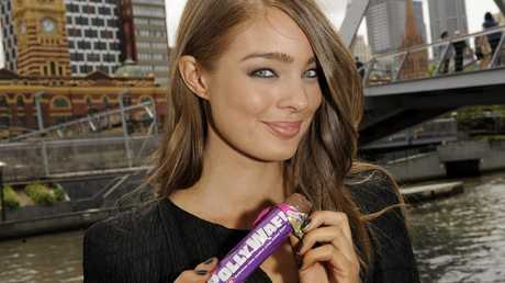 Aussie model Lucy McIntosh when she was 21, with the choc bar. The photo was taken in 2009 when it was rumoured to be discounted. It ended up happening and hasn't been on shelves for 10 years.
