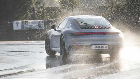 A new wet mode allows detects a wet road and alters the car's drie settings.