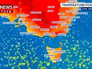 HEATWAVE: The parts of Australia hitting 45C today