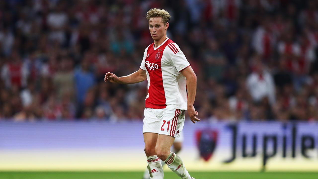 Frenkie de Jong of Ajax in action