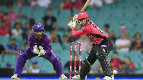 Josh Philippe of the Sixers bats during the BBL match between the Sydney Sixers and Hobart Hurricanes. (Photo by Mark Evans/Getty Images)