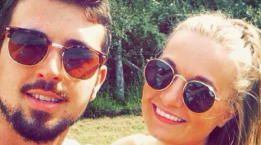 The loved-up couple, pictured, were on a dream holiday in Bali. Picture: Wales News Service/Australscope