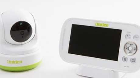 A mum has seen an frightening sight after her baby monitor was apparently breached.