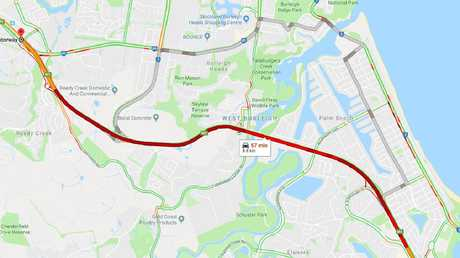 Drivers can expect travel times of up to one hour to get from Elanora to Reedy Creek.